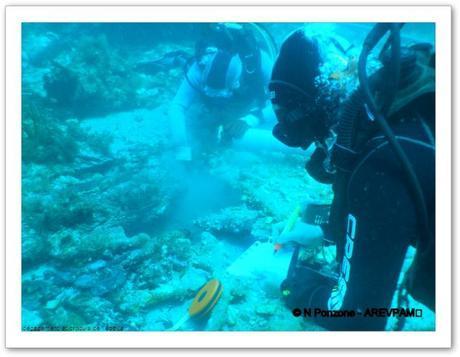 fouille archéologique sous-marine épave Porquerolles