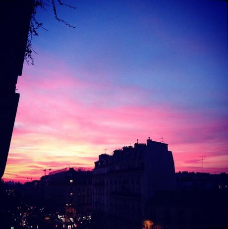 La vue d'en face aux jolies couleurs de début de soirée  (c) D'une île à Paris