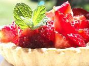 Tartelettes rhubarbe fraises