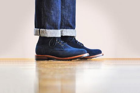 OAK STREET BOOTMAKERS – F/W 2016 – INDIGO ROUGH-OUT DAINITE TRENCH BOOT