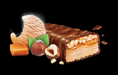 Barre glacée Snickers Noisettes