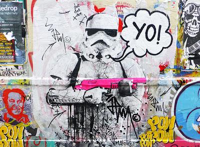 YO! STORMTROOPER BRICKLANE & SHOREDITCH FEAT POW STREET ART