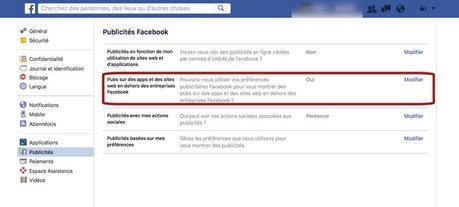 Astuce Facebook: comment limiter le suivi publicitaire sur tout le Web