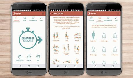 7 minutes d'exercice application android santé bien être sport LG