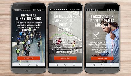nike application android santé bien être sport LG