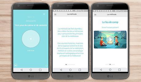 petit Bambou application android santé bien être sport LG