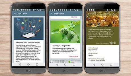 delicatessence application android santé bien être sport LG