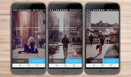 yoga au quotidien application android santé bien être sport LG