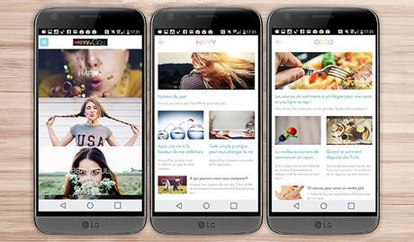 happyngood application android santé bien être sport LG