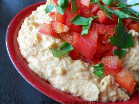 houmous au poivron rouge recette grecque defi cuisine recettes