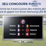 Jeu concours Euro 2016 : Gagne 1 écran Samsung LED 80cm