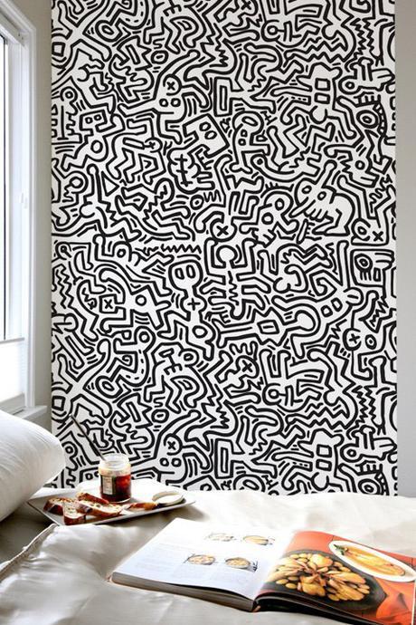 Street Art sur maille - Keith Haring & Petit Bateau