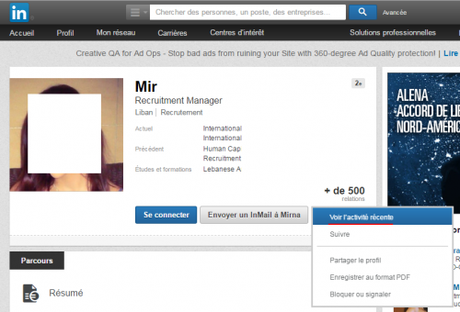 nombre de contacts linkedin