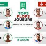 Tops / Flops : Portugal – Islande