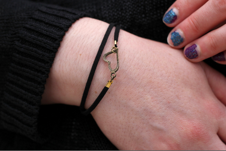 blog mode nantes bracelet coeur noir