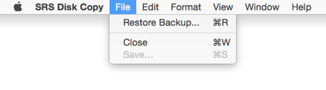 macOS Sierra: cloner son disque dur avec SRS Disk Copy