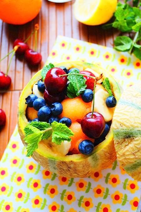 Salade de fruit dans un melon