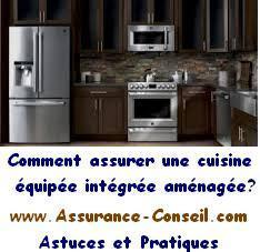 Assurance cuisine équipée amenagée integrée