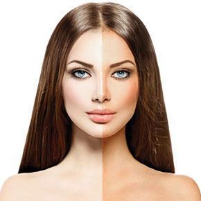peau blanche bronzage