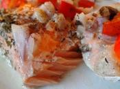 Saumon four, champignons, poivrons épices