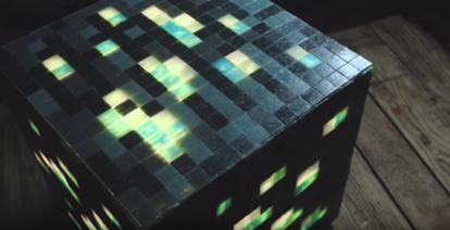 Une lampe inspirée de la saga Minecraft !