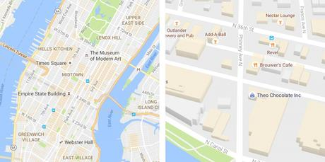 Des modifications visuelles sur Google Maps sur iPhone