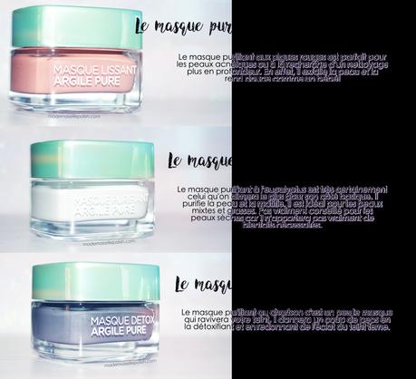 Le trio de masques à l'argile de L'Oréal