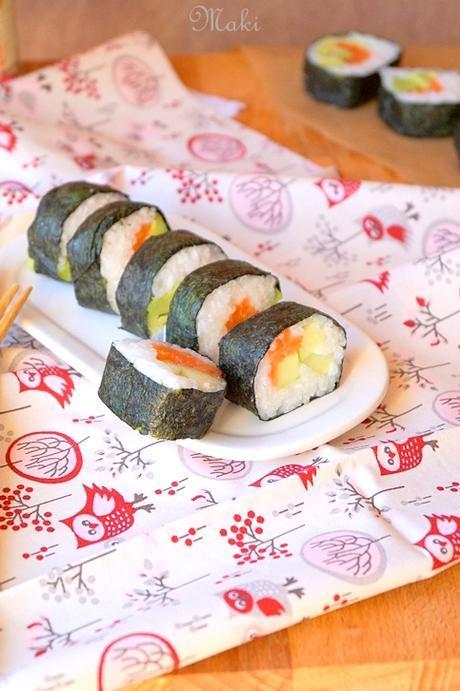 maki saumon avocat concombre