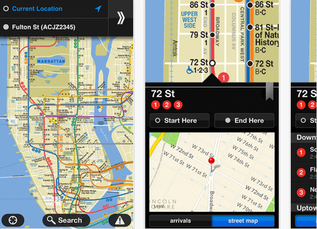 Application métro New York