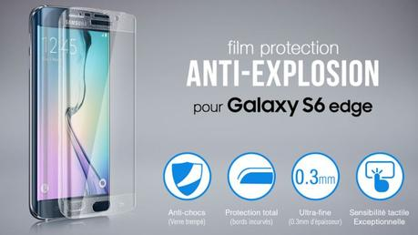 Test Protection en Verre trempé pour Samsung Galaxy S6 Edge 1