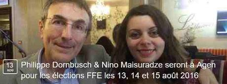 Philippe Dornbusch et Nino Maisuradze - Photo © Chess & Strategy