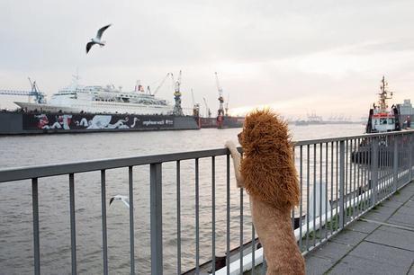 Venez voir ce chien déguisé en lion dans les rues de Hambourg !