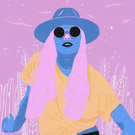 Various cool portrait illustrations by Sarah Jones