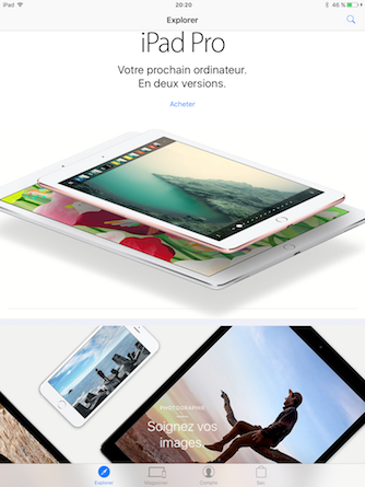Nouvelle version d'Apple Store pour iOS