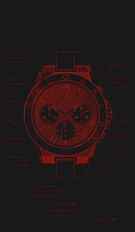 03.DG MAGNESIUM CHRONO_IMAGES_RGB_SKETCH DG MG CHRONO RED