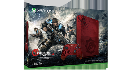 Xbox One S Gears of War 4 Limited Edition Bundle 2TB view of packaging