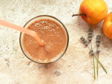 Smoothie abricot cacao cru