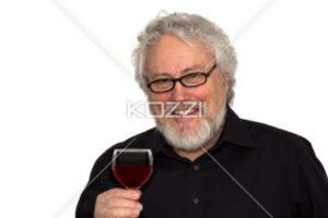 image man drinking red wine