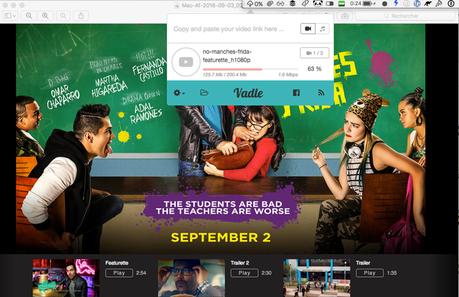Vadle peut télécharger les vidéos YouTube, Vimeo, Facebook en 4K