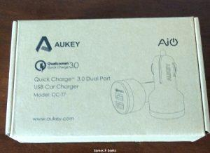 SpeedTest du AUKEY Quick Charge 2.0 Chargeur Voiture