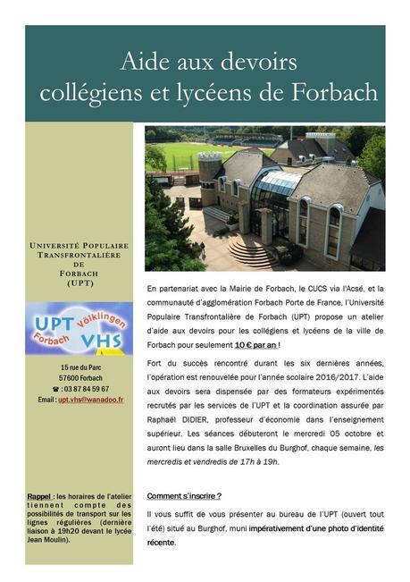 Aide aux devoirs à Forbach