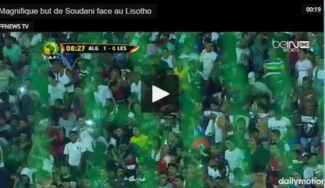 Video : Magnifique but de Soudani face au Lisotho