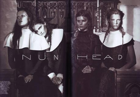 #ThrowBackFashion Nun Head by Sebastian Faena for Pop Magazine Fall/Winter 2008