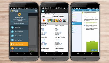 •Pour un français irréprochable  applications android LG G5