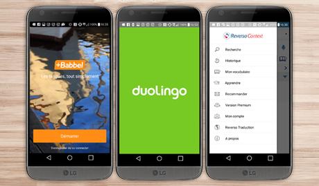 •Pour apprendre une nouvelle langue applications LG G5 android