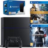 Bon Plan – Console PS4 500 Go + Uncharted 4 + Destiny Collection + PS TV à 289.99€