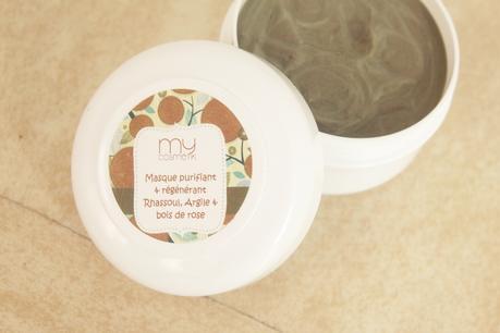 masque purifiant et régénérant Rhassoul, argile et bois de rose Mycosmetik