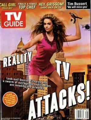 Denise Richards en Une de TV Guide