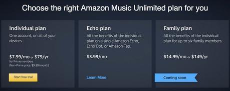 Amazon Music Unlimited est lancé pour le streaming Musical