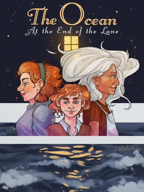 Fan art du livre l'océan au bout du chemin de Neil Gaiman